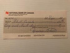 Maurice Richard signed General Fishing Lines cheque #434 (autographed)