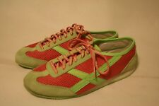 US POLO X-67 Athletic Sneakers Green Pink 6.5 M Women's LaceUp Shoe Ralph Lauren