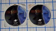 Lot of 2 Farscape Sci-Fi Tv Series Promotional Sticker Handouts Jim Henson 2000