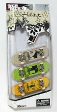 TECH DECK 96mm 3pk Fingerboards Mini SKATEBOARDS HABITAT w STICKERS NEW