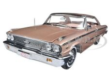 1963 FORD GALAXIE 500 XL HARDTOP ROSE /BEIGE 1/18 DIECAST MODEL BY SUNSTAR 1467
