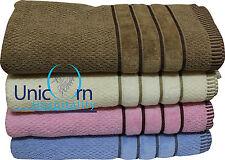 4 Pc's Bath Towels Set 100% Cotton Quality 500 Gsm 70 X 145Cms 4 Colors Free Shi