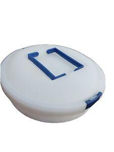 Iris Schwartz Pie Cake Cupcake Deviled Egg Carrier Container Round 12x12x3 Nice!