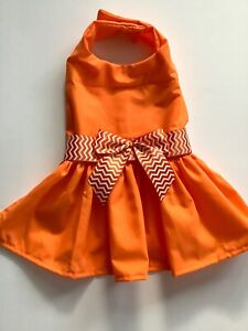 HANDMADE ORANGE DOGGIE DRESS  M