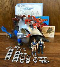 Stegosaurus w/ Stark & Vega Vintage Dino Riders Figure Complete Works 1988 Tyco