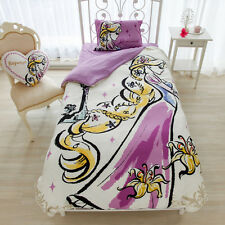 Tangled Rapunzel Covering Bed Set 3pcs Pillow Case Disney Princess Kawaii Japan