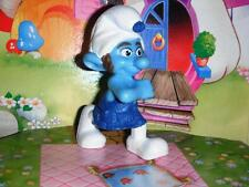 Smurfs PVC Figurine Gutsy Smurf Cake Topper Decoration Excellent Condition 3""