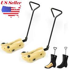 Hot One Pair 2-way Wooden Adjustable Shoe Boots Stretcher for Men Women SL