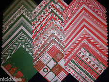 12x12 Scrapbook Paper Sugar Plums Christmas Holiday Stack 60 Recollections Lot