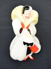 Disney 101 Dalmatians Cruella DeVille Fur Coat Porcelain Figurine Japan Vintage