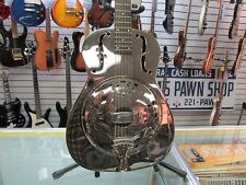 Galveston Resonator Guitar Round Neck Dobro Metal Body