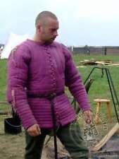 Medieval-thick-padded-Whi te-Gambeson-coat-Aketon-Ja cket-Armor-reenactment-Lar pe