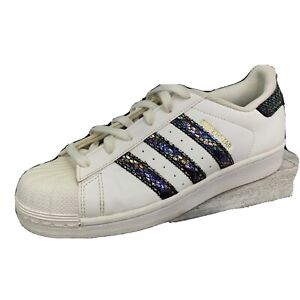 Adidas 3 Strip Metallic 789002 Hard Shell Superstar White Size 6.5