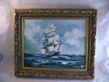 Ölgemälde, Segelschiff auf hoher See, Ricardo Casal