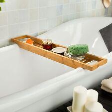 SoBuy® Badewannenablage aus Bambus,Badewannenregal,Wannenbrücke FRG18-N