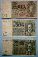 Germany (6) Bank Currency Notes from 1929 to 1942