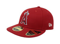New Era 59Fifty Hat Mens Low Profile Los Angeles Angels Of Anaheim Red Cap 5950