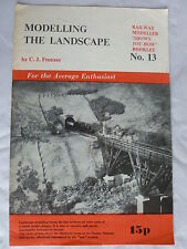 Modelling the Landscape by C J Freezer - Shows You How Booklet No. 13 - Railway