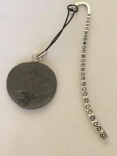 Roman Coin Claudius WC1  Made From Fine  Pewter On A PATTERN Bookmark
