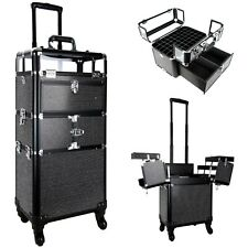 Professional Makeup Case on Wheels Cosmetic Train Makeup Case Organizer Drawers