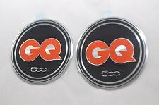 New 2 x Genuine Emblem Fiat 500 GQ Special Edition Pillar Badges