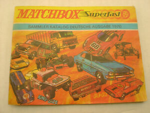 1970 MATCHBOX LESNEY SAMMLER KATALOG DEUTSCHE AUSGABE