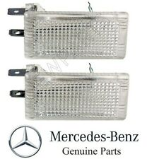 For Mercedes W126 W202 Set of 2 Front Interior Courtesy Lights on Door Genuine