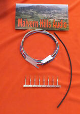 7 Strand Silver-Plated Tonearm / Arm Rewire Kit 8 Metres +Clips + Heat Shrink