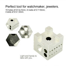 Dapping Doming Block Watch Jewelers Jewelry Repair Holder Tools Metal Watchmaker