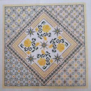 "Cross Stitch ""SHAMINA"" pattern ~ flowers, blackwork, roses"