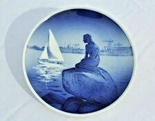 """Vintage Royal Copenhagen Little Mermaid 8"""" Collectible Plate Euc"""