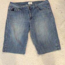 Womens WHBM BLANC Bermuda Jean Short Size 12