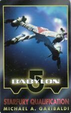 Babylon 5 1997 Michael Garibaldi Starfury Qualification Card Nm/M!
