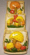 Vtg Heavy Mushroom Ceramic Wall Mail Organizer Hanging Letter Bill Holder Retro