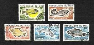 Mali 1975 Fishes complete set of 5 values (SG 484-488) used