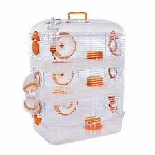 Pet Ting Orchid Cage Hamster Orange 3 Storey Hamster, Dwarf Hamsters Souris Gerbille