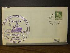 MS NANOK S Naval Cover 1969 ARCTIC POLAR Cachet SIORAPALUK, GREENLAND