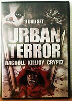 CRYPTZ / RAGDOLL / KILLJOY Triple Feature 3-Disc Set DVD Full Moon Urban Terror
