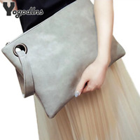 Fashion solid women's clutch bag leather women envelope bag clutch evening bag f