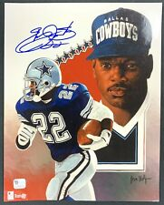 Emmitt Smith Cowboys Signed 8x10 Photo Autographed Auto GA COA