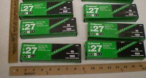 LOT OF 6 BOXES RAMSET 27 CAL 10 SHOT STRIP POWER LOADS LEVEL 3 GREEN (TBD)