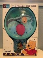 Disney Winnie the Pooh Pendulum Wall Clock Battery Operated Fantasma