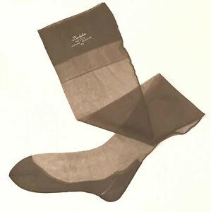 Vintage BERKSHIRE  FF Seamed Havana Heel Flat Knit Stockings 10 1/2 M 45G 30 D