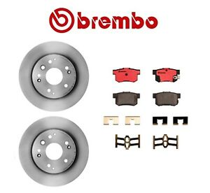 Rear for Acura TL Honda Element Disc Brake Rotors & Pads Brembo P28039N/25835