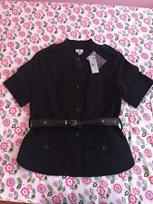 Worthington Belted Short Sleeve Black Blazer/Jacket, Size S