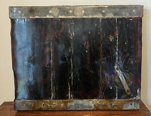 Old Rare Antique World War 2 WWII Liberty Ship Hatch Cover Tabletop Historical