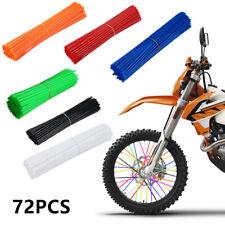 72 Pcs Motorcycle Dirt Bike Wheel Rim Cover Spoke Skins Wrap Tubes Decor Protect