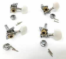 Cigar Box Guitar Tuners - Keys for 4 String Guitar 2-Left Side and 2-Right Side