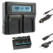 BATTERIA per Sony np-f750 + Dual Caricabatteria Charger per Sony np-f750 | 60122 | 90302