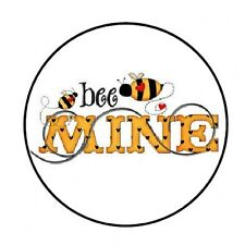 "48 BE MINE BUMBLE BEE ENVELOPE SEALS LABELS STICKERS 1.2"" ROUND *"